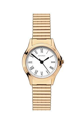 腕時計 セコンダ イギリス レディース 【送料無料】Sekonda Classic Ladies Watch with White Dial and Gold Expanding Bracelet 2702腕時計 セコンダ イギリス レディース