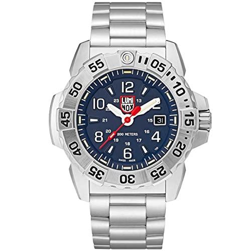 ルミノックス アメリカ海軍SEAL部隊 ミリタリーウォッチ 腕時計 メンズ 【送料無料】Luminox All Steel Blue Arabic Dial Watch | 3254ルミノックス アメリカ海軍SEAL部隊 ミリタリーウォッチ 腕時計 メンズ