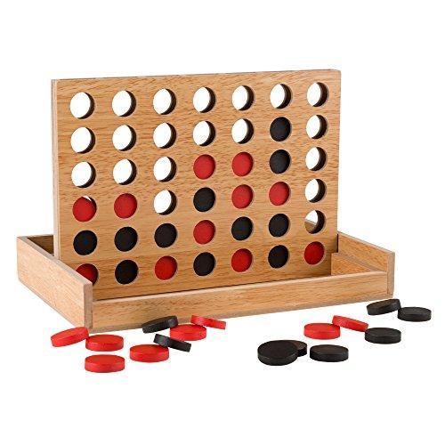 ボードゲーム 英語 アメリカ 海外ゲーム Classic Four in a Row Game Wooden Travel Board Game for Adults, Kids, Boys and Girls by Hey! Play!ボードゲーム 英語 アメリカ 海外ゲーム