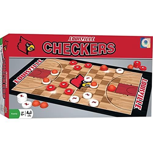ボードゲーム 英語 アメリカ 海外ゲーム MasterPieces NCAA Louisville Cardinals, Checkers Board Game, For Ages 6+ボードゲーム 英語 アメリカ 海外ゲーム