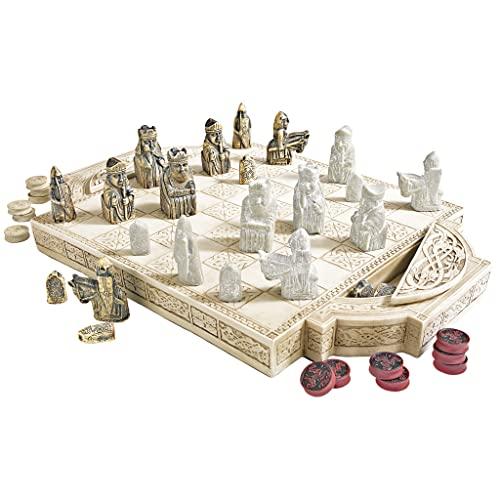 ボードゲーム 英語 アメリカ 海外ゲーム 【送料無料】Design Toscano Isle of Lewis Chess Set with Board Box, 17 Inch, Polyresin, Ancient Ivoryボードゲーム 英語 アメリカ 海外ゲーム