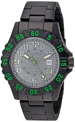 腕時計 アクリボスXXIV メンズ 【送料無料】Akribos XXIV Men's Rugged Diving Watch - Coin Edged Bezel, Luminous Hands, Date Window On Stainless Steel Bracelet - AK794腕時計 アクリボスXXIV メンズ