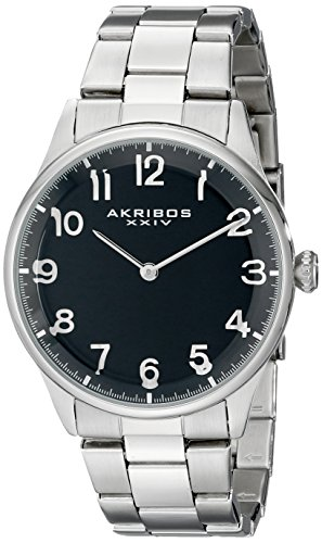 アクリボスXXIV 腕時計 メンズ 【送料無料】Akribos XXIV Men's Durable Sapphire Crystal Watch - Easy-to-Read Arabic Numerals On Stainless Steel Bracelet - AK787アクリボスXXIV 腕時計 メンズ