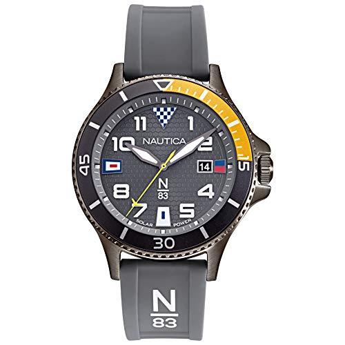ノーティカ 腕時計 メンズ 【送料無料】Nautica N83 Men's NAPCBA901 Cocoa Beach Gray/Yellow Silicone Strap Watchノーティカ 腕時計 メンズ
