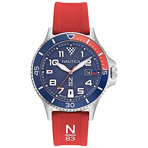 ノーティカ 腕時計 メンズ 【送料無料】Nautica N83 Men's NAPCBA902 Cocoa Beach Navy/Red Silicone Strap Watchノーティカ 腕時計 メンズ