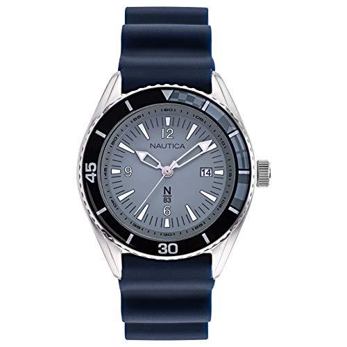 腕時計 ノーティカ メンズ 【送料無料】Nautica N83 Men's NAPUSA902 Urban Surf Navy/Gray Silicone Strap Watch腕時計 ノーティカ メンズ