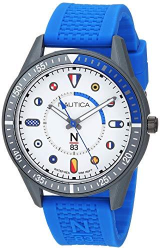 ノーティカ 腕時計 メンズ 【送料無料】Nautica N83 Men's NAPSPS903 Surf Park Blue/White Silicone Strap Watchノーティカ 腕時計 メンズ