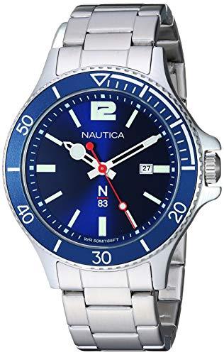 腕時計 ノーティカ メンズ 【送料無料】Nautica N83 Men's NAPABS909 Accra Beach Silver/Blue Stainless Steel Bracelet Watch腕時計 ノーティカ メンズ