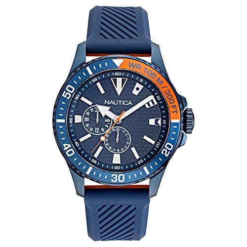 ノーティカ 腕時計 メンズ 【送料無料】Nautica Men's NAPFRB924 Freeboard Multi Navy/Orange Silicone Strap Watchノーティカ 腕時計 メンズ