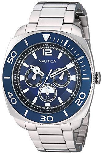 腕時計 ノーティカ メンズ 【送料無料】Nautica Men's NAPBHS904 Bal Harbour Silver/Navy Stainless Steel Bracelet Watch腕時計 ノーティカ メンズ