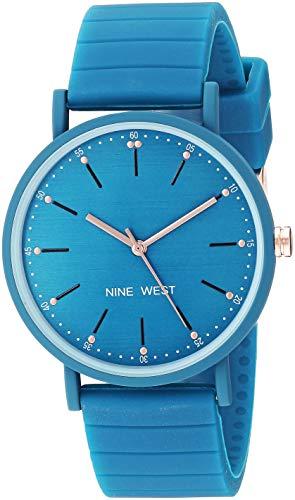ナインウェスト 腕時計 レディース 【送料無料】Nine West Women's Teal Silicone Strap Watch, NW/2330TEALナインウェスト 腕時計 レディース