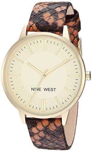 ナインウェスト 腕時計 レディース 【送料無料】Nine West Women's Snake Patterned Strap Watchナインウェスト 腕時計 レディース
