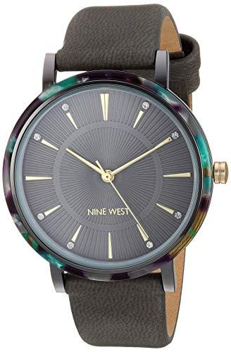 ナインウェスト 腕時計 レディース 【送料無料】Nine West Women's Crystal Accented Grey Strap Watch, NW/2379GYGYナインウェスト 腕時計 レディース