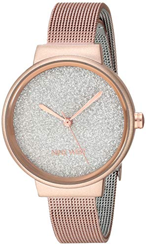 ナインウェスト 腕時計 レディース 【送料無料】Nine West Women's Rose Gold-Tone Mesh Bracelet Watch, NW/2396RGRGナインウェスト 腕時計 レディース