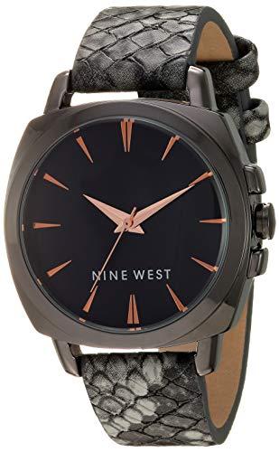 ナインウェスト 腕時計 レディース 【送料無料】Nine West Women's Gunmetal and Grey Snake Patterned Strap Watch, NW/2391GYGYナインウェスト 腕時計 レディース