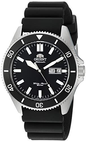 オリエント 腕時計 メンズ 【送料無料】Orient Men's Kanno Stainless Steel Japanese-Automatic Diving Watch with Silicone Strap, Black, 21.6 (Model: RA-AA0010B19A)オリエント 腕時計 メンズ