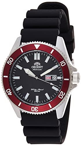 オリエント 腕時計 メンズ 【送料無料】Orient Men's Kanno Stainless Steel Japanese-Automatic Diving Watch with Silicone Strap, Black, 20.5 (Model: RA-AA0011B19A)オリエント 腕時計 メンズ