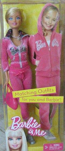 バービー バービー人形 日本未発売 【送料無料】Barbie & Me Matching Outfits Fashion Doll Set Pink Sweatsuit & Accessoriesバービー バービー人形 日本未発売
