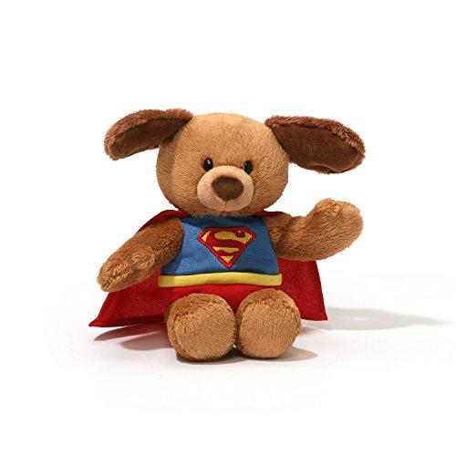 ガンド ぬいぐるみ リアル お世話 かわいい 【送料無料】GUND DC Comics Superman Dog Stuffed Animal Bendable Plush, 8