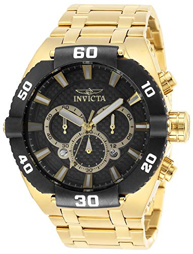 インヴィクタ インビクタ 腕時計 メンズ 【送料無料】Invicta Men's Coalition Forces Quartz Watch with Stainless Steel Strap, Gold, 30 (Model: 27257)インヴィクタ インビクタ 腕時計 メンズ