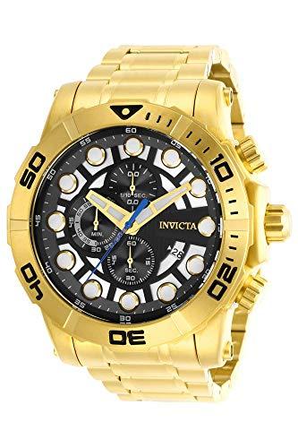 インヴィクタ インビクタ 腕時計 メンズ 【送料無料】Invicta Men's Sea Hunter Quartz Watch with Stainless Steel Strap, Gold, 26 (Model: 28264)インヴィクタ インビクタ 腕時計 メンズ