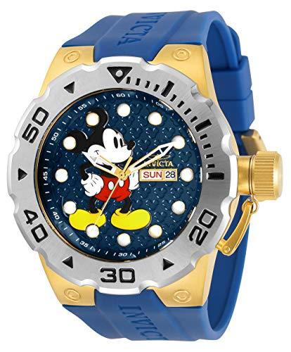 腕時計 インヴィクタ インビクタ メンズ 【送料無料】Invicta Disney Limited Edition Men 51mm Stainless Steel Gold Blue dial Quartz, 30791腕時計 インヴィクタ インビクタ メンズ