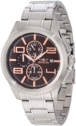 インヴィクタ インビクタ 腕時計 メンズ 【送料無料】Invicta Men's 12151 Specialty Elegant Chronograph Brown Stainless Steel Watchインヴィクタ インビクタ 腕時計 メンズ