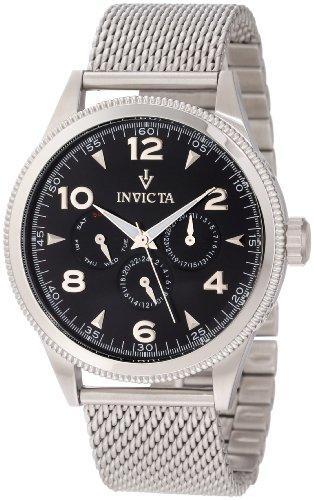 インヴィクタ インビクタ 腕時計 メンズ 【送料無料】Invicta Men's 12204 Vintage Black Dial Stainless Steel Watchインヴィクタ インビクタ 腕時計 メンズ
