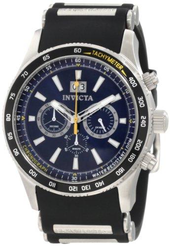 インヴィクタ インビクタ 腕時計 メンズ 【送料無料】Invicta Men's 1235 Aviator Chronograph Blue Dial Black Polyurethane Watchインヴィクタ インビクタ 腕時計 メンズ
