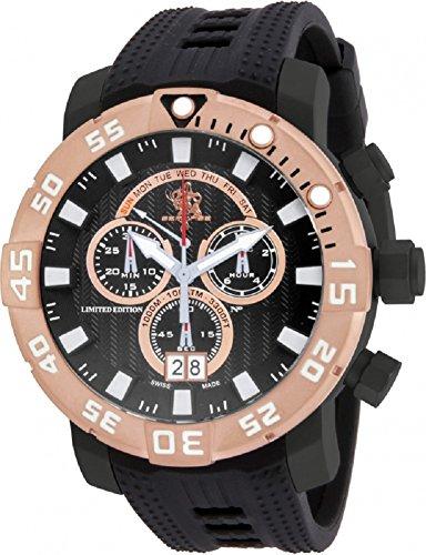 インヴィクタ インビクタ 腕時計 メンズ 【送料無料】Invicta Sea Base Chronograph Black Dial Black Polyurethane Mens Watch 14256インヴィクタ インビクタ 腕時計 メンズ