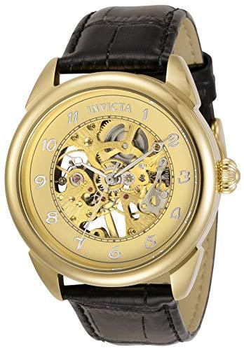 腕時計 インヴィクタ インビクタ メンズ 【送料無料】Invicta Men's Specialty Stainless Steel Quartz Watch with Leather Strap, Black, 22 (Model: 31306)腕時計 インヴィクタ インビクタ メンズ