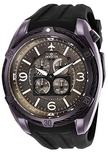 腕時計 インヴィクタ インビクタ メンズ 【送料無料】Invicta Men's Aviator Stainless Steel Quartz Watch with Silicone Strap, Black, 32 (Model: 28084)腕時計 インヴィクタ インビクタ メンズ