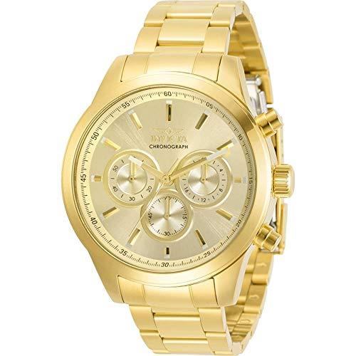 腕時計 インヴィクタ インビクタ メンズ 【送料無料】Invicta Specialty Chronograph Quartz Gold Dial Men's Watch 30984腕時計 インヴィクタ インビクタ メンズ