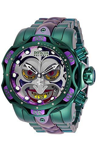インヴィクタ インビクタ 腕時計 メンズ 【送料無料】Invicta Reserve DC Comics Joker Green Purple 52mm Men's Watch 30124インヴィクタ インビクタ 腕時計 メンズ