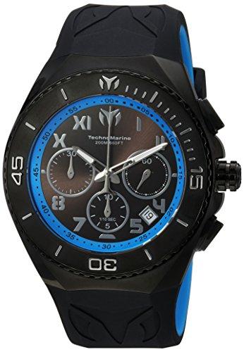 テクノマリーン 腕時計 メンズ 【送料無料】Technomarine Men's Manta Stainless Steel Quartz Watch with Silicone Strap, Black, 29 (Model: TM-215071)テクノマリーン 腕時計 メンズ