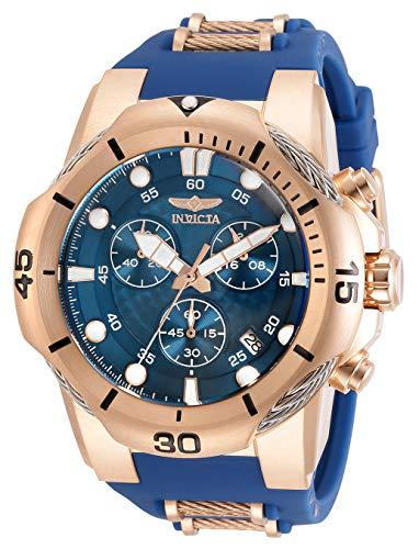 インヴィクタ インビクタ 腕時計 メンズ 【送料無料】Invicta Men's Bolt Quartz Watch with Stainless Steel and Silicone Strap, Rose Gold and Blue, 30 (Model: 31957)インヴィクタ インビクタ 腕時計 メンズ