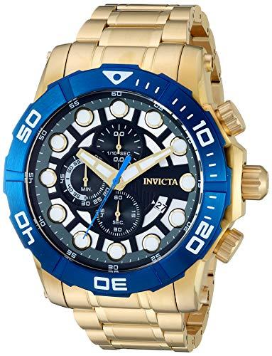 インヴィクタ インビクタ 腕時計 メンズ 【送料無料】Invicta Men's Sea Hunter Quartz Watch with Stainless Steel Strap, Gold, 26 (Model: 28265)インヴィクタ インビクタ 腕時計 メンズ