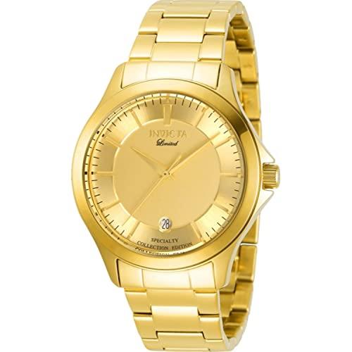 インヴィクタ インビクタ 腕時計 メンズ 【送料無料】Invicta 31124 Men's Specialty Yellow Gold Bracelet Quartz Watchインヴィクタ インビクタ 腕時計 メンズ