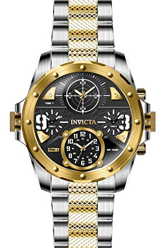 インヴィクタ インビクタ 腕時計 メンズ 【送料無料】Invicta Men's Coalition Forces Quartz Watch with Stainless Steel Strap, Silver, Gold, 26 (Model: 31148)インヴィクタ インビクタ 腕時計 メンズ
