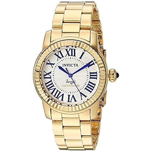 インヴィクタ インビクタ 腕時計 レディース 【送料無料】Invicta Womens Swiss Angel Gold-Plated Stainless Steel 38mm Limited Edition Watchインヴィクタ インビクタ 腕時計 レディース