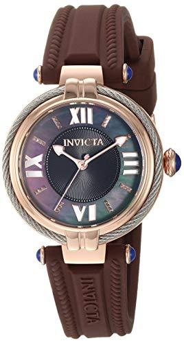 インヴィクタ インビクタ 腕時計 レディース 【送料無料】Invicta Women's Bolt Stainless Steel Quartz Silicone Strap, Brown, 15.9 Casual Watch (Model: 29128)インヴィクタ インビクタ 腕時計 レディース