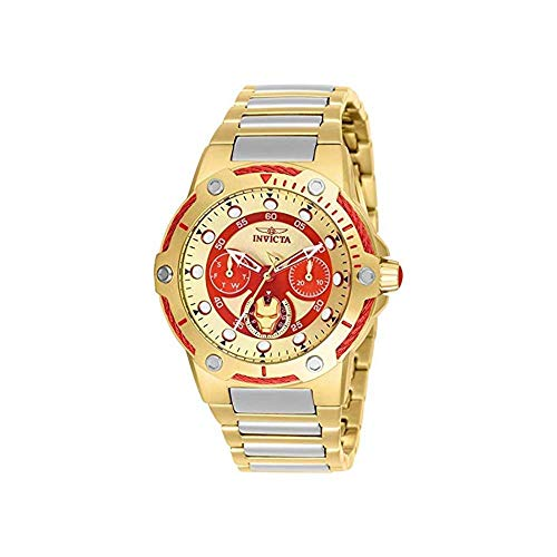 インヴィクタ インビクタ 腕時計 レディース 【送料無料】Invicta Marvel Limited Edition Tony Stark Gold-Tone Ladies Watch 26985インヴィクタ インビクタ 腕時計 レディース