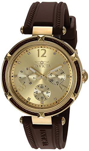 インヴィクタ インビクタ 腕時計 レディース 【送料無料】Invicta Women's Bolt Stainless Steel Quartz Watch with Silicone Strap, Brown, 17.7 (Model: 29138)インヴィクタ インビクタ 腕時計 レディース