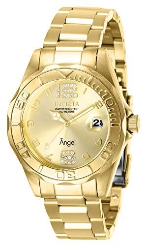 インヴィクタ インビクタ 腕時計 レディース 【送料無料】Invicta Women's Angel Quartz Watch with Stainless Steel Strap, Gold, 18 (Model: 28680)インヴィクタ インビクタ 腕時計 レディース