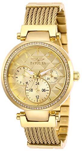 インヴィクタ インビクタ 腕時計 レディース 【送料無料】Invicta Women's Angel Quartz Stainless-Steel Strap, Gold, 18 Casual Watch (Model: 28918)インヴィクタ インビクタ 腕時計 レディース