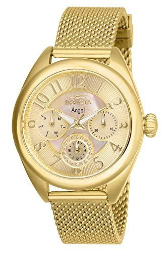 インヴィクタ インビクタ 腕時計 レディース 【送料無料】Invicta Women's Angel Quartz Stainless-Steel Strap, Gold, 16 Casual Watch (Model: 27455)インヴィクタ インビクタ 腕時計 レディース