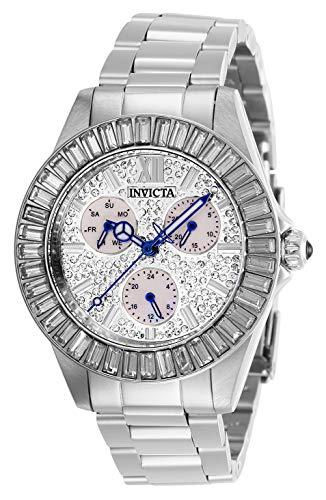 インヴィクタ インビクタ 腕時計 レディース 【送料無料】Invicta Women's Angel Quartz Watch with Stainless Steel Strap, Silver, 20 (Model: 28445)インヴィクタ インビクタ 腕時計 レディース