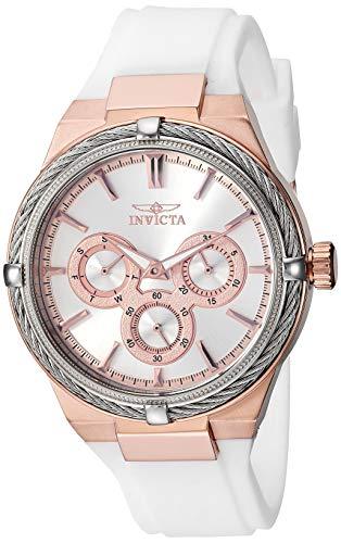インヴィクタ インビクタ 腕時計 レディース 【送料無料】Invicta Women's Bolt Stainless Steel Analog Quartz Watch with Polyurethane Strap, White, 17 (Model: 28914)インヴィクタ インビクタ 腕時計 レディース