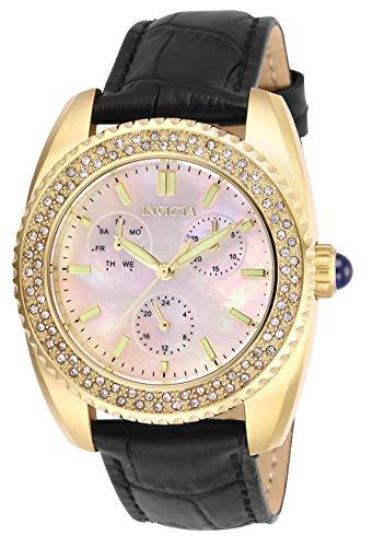 インヴィクタ インビクタ 腕時計 レディース 【送料無料】Invicta Women's Angel Stainless Steel Quartz Watch with Leather Strap, Black, 20 (Model: 28586)インヴィクタ インビクタ 腕時計 レディース