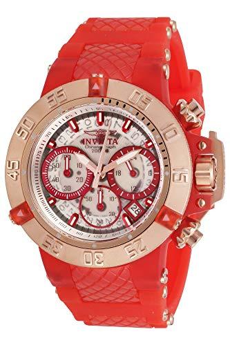 インヴィクタ インビクタ 腕時計 レディース 【送料無料】Invicta Women's Subaqua Stainless Steel Quartz Watch with Silicone Strap, Red, 24.5 (Model: 30305)インヴィクタ インビクタ 腕時計 レディース
